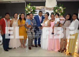 Familiares y amigos se dieron cita para celebrar el enlace de Rigoberto San Luis & Raquel Hernández.