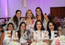 Vania Palazuelos, Nancy García, Michelle Cervantes, Alina Candia, Silva Cervantes, Zaire Hernández, festejaron la próxima maternidad de Lupita Vázquez.